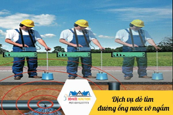 Dịch vụ dò tìm đường ống nước vỡ ngầm