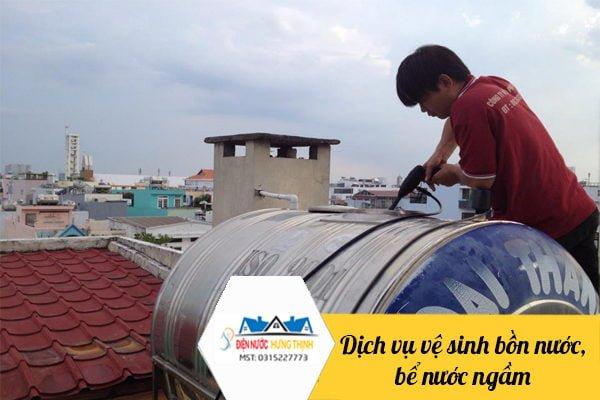 dịch vụ vệ sinh bồn nước
