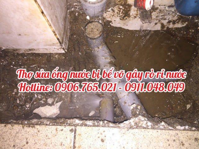 thợ sửa ống nước bục vỡ